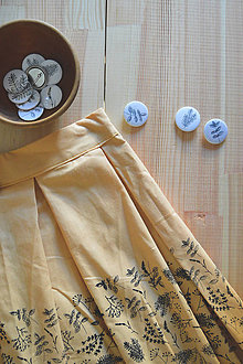 Sukne - Bylinková sukňa - starožltá - 11203354_