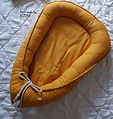 Textil - Hniezdo pre bábätko z ľanovej látky v horčicovej farbe - 11205212_