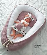 Textil - Hniezdo pre bábätko exclusive v staroružovej farbe - 11205568_