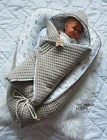 Textil - Hniezdo pre bábätko z vafle bavlny v béžovej farbe - 11205508_