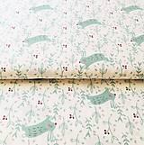 Textil - zajkovia na lúke, 100 % bavlna Francúzsko, šírka 150 cm - 11203175_