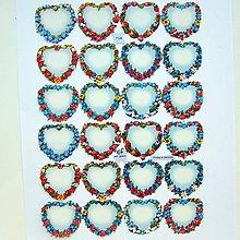 Papier - Papierové výrezy - srdiečka - 11206254_