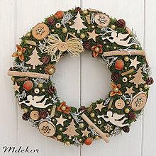 Dekorácie - Prírodný vianočný veniec - 11205240_