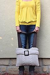 Veľké tašky - recy-taška svetríková - 11205634_