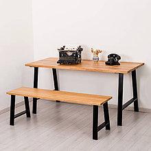 Nábytok - LUTO stolová podnož (42 cm - Biela) - 11204393_