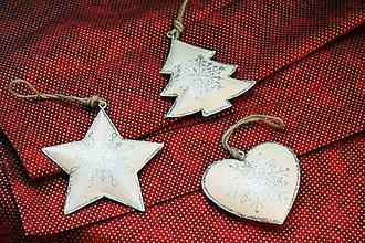 Dekorácie - Vianoce. Trblietavé maľované vianočné ozdoby. - 11205585_