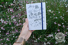 Iné doplnky - Diár 2020 *Kvety a pavučina* - 11206223_
