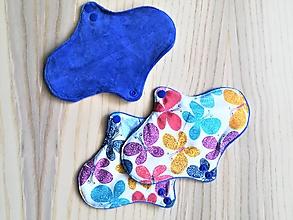 Iné doplnky - Denná slipová vložka priedušná - motýle (Modrá) - 11206042_