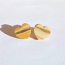 Šperky - Drevené manžetové gombíky - Smrekové srdiečka 1 - 11205442_