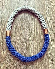 Náhrdelníky - Bužírkový náhrdelník - II. (Modrá) - 11203999_