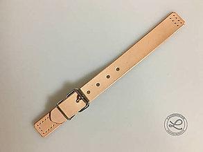 Materiál ručne robený - Kožené kabelkové zapínanie s prackou - 11202757_