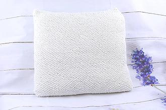 Úžitkový textil - Biela obliečka na vankúš - 11204015_