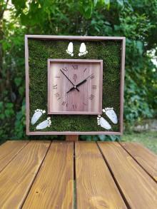 Hodiny - Drevené hodiny - Rodinka - 11206386_