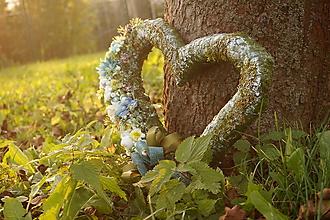 Dekorácie - Srdce na hrob v modrej farbe - 11205804_