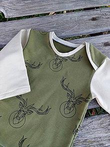 Detské oblečenie - Body s jeleňom - 11205492_