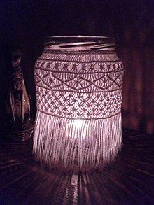 Dekorácie - Makramé dekorácia 5 na fľašu - 11203329_
