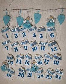 Dekorácie - Adventny kalendár v modrom - 11203473_
