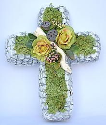 Dekorácie - Betovový kríž na hrob C - 11205473_