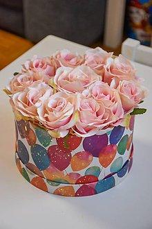 Dekorácie - Narodeninový box- ruže - 11205769_