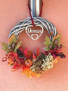 Dekorácie - Jesenný veniec Domov - 11205864_