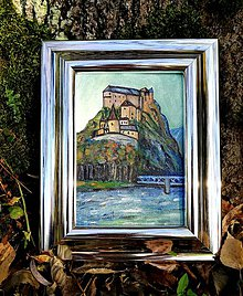 Obrazy - Oravský hrad - akryl na plátne - 11204877_