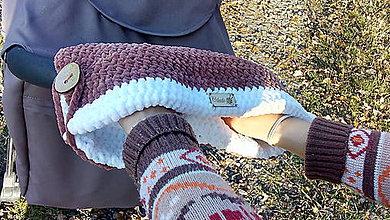 Textil - Háčkované rukávniky na kočík - 11204046_