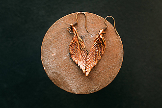 Náušnice - Náušnice malinový list - 11204617_