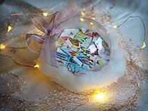 Dekorácie - ZASNEŽENÉ vianočné gule s 3D fotkou - 11205236_