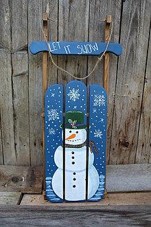 Dekorácie - Vianočné sane - 11204034_