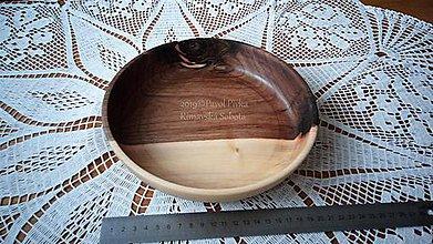 Nádoby - Miska z dreva (Orech) - 11202950_