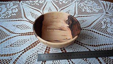 Nádoby - Miska z dreva (Orech) - 11202955_