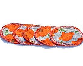 Úžitkový textil - Odličovací tampón Vlčie maky - 11204899_
