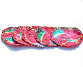 Úžitkový textil - Odličovací tampón Melóny - 11204923_