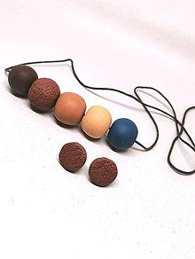 Sady šperkov - Hnedo-modré - 11204245_