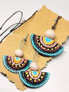 Sady šperkov - Tyrkysovo žlté - 11204304_