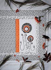 Úžitkový textil - Štóla - čierna & biela - kvety - 11203776_