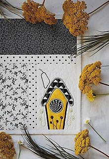 Úžitkový textil - Čierna a biela No.7 - 11203810_