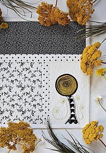 Úžitkový textil - Čierna a biela No.8 - 11203874_