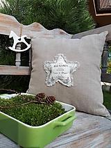 Úžitkový textil - Obliečka na vankúš Natur Christmas III - 11203986_