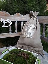 Úžitkový textil - Mikulášske vrecko Natur Christmas Sobík - 11204056_