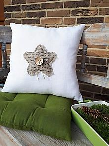 Úžitkový textil - Obliečka na vankúš Natur Christmas I - 11203912_