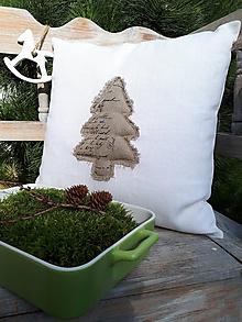 Úžitkový textil - Obliečka na vankúš Natur Christmas II - 11203942_
