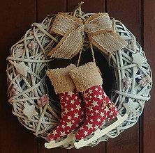 Dekorácie - Vianočný, brusličkový - 11207000_
