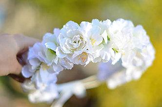 Ozdoby do vlasov - V záhrade bielych ruží - 11208215_