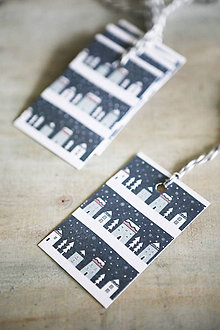 Papiernictvo - Menovky na darčeky - vianočné - 11207040_