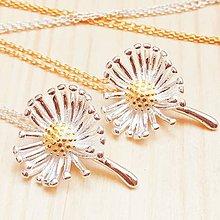 Náhrdelníky - strieborno-zlaté sedmikrásky, náhrdelník Ag 925 - 11206949_