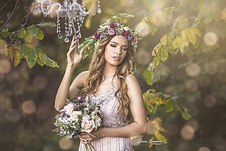 Kytice pre nevestu - Romantická svadobná kytica - 11207369_