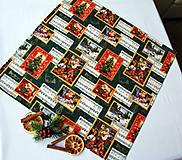Úžitkový textil - Vianočný obrus 52 x 52 - 11209483_