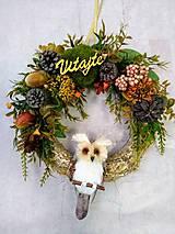 """Dekorácie - Jesenný venček na dvere """"sovička"""" - 11209351_"""