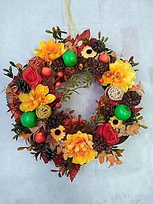 Dekorácie - Jesenný venček na dvere I. - 11208545_